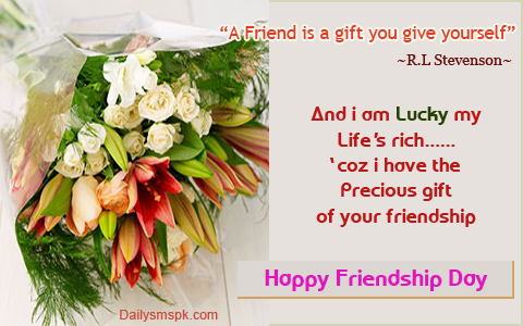 friendship day wallpaper Friendship Day SMS Wallpaper Quote in English
