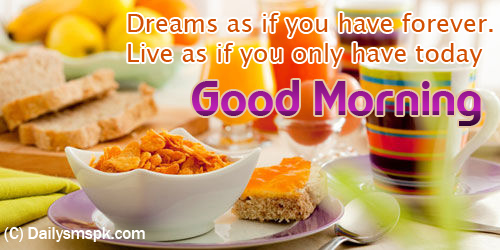 good morning breakfast wallpapers card Good Morning Breakfast Wallpaper Picture Card SMS Message for Facebook