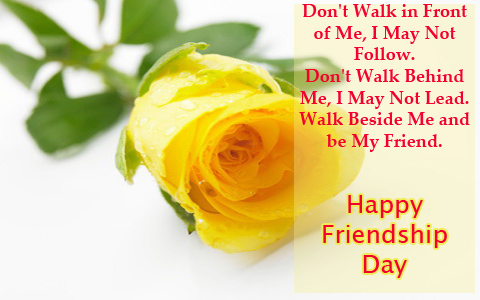 friendship day yellow rose wallpaper image for facebook Friendship Day 2012 Yellow Rose Wallpaper Card SMS & Quotes