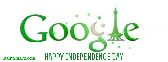 google 14th august doodle pakistan timeline cover 39 550x203 14 August: Google Green Logo For Google Plus Timeline Covers