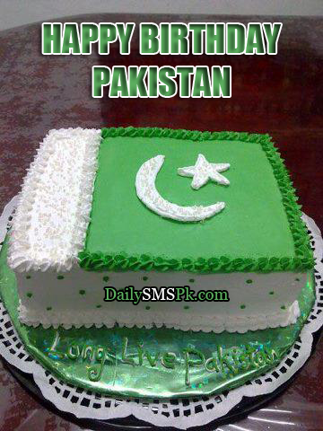 happy birthday pakistan cake 2012 14 august pics wallpapers photos PAKISTAN BIRTHDAY Cake Photos and SMS