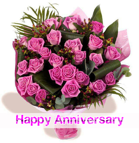 happy anniversary Happy Anniversary Pink Rose Cards Wishes Quotes